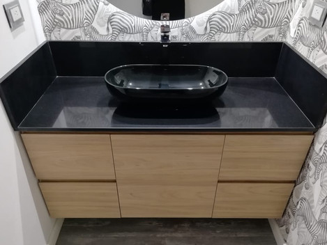 Mueble de baño en Melamina toch completa conjunto con papel tapiz