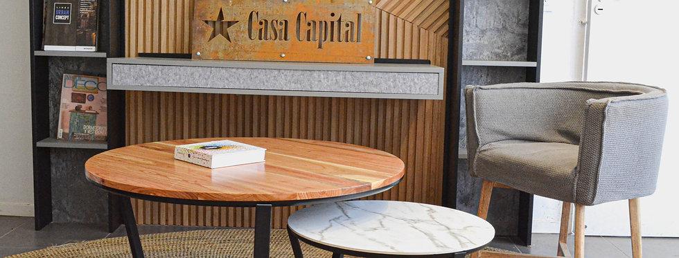 Mesa de centro Y madera Maciza