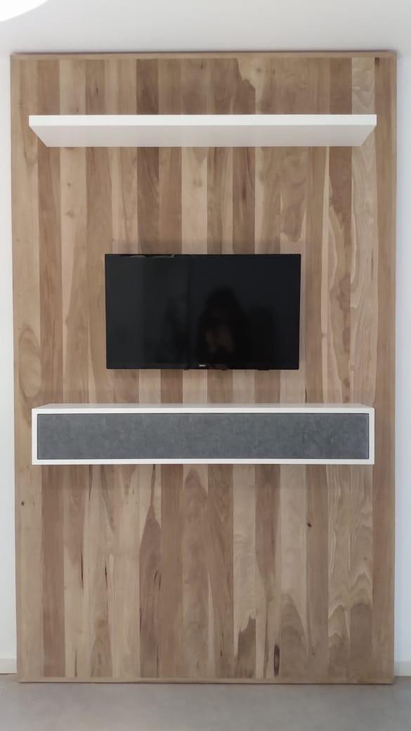 Mueble tv con soporte para electronica