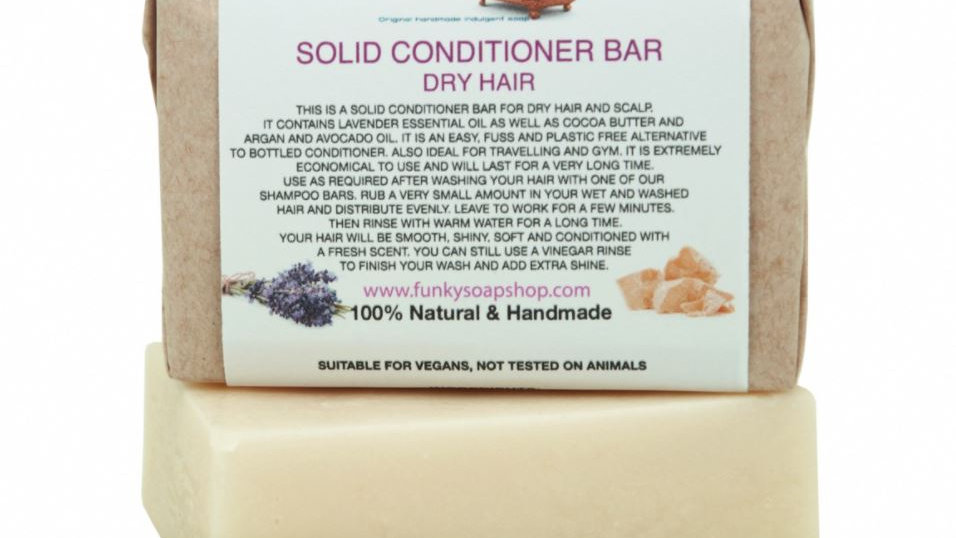 Solid Conditioner Bar for Dry Hair 95g