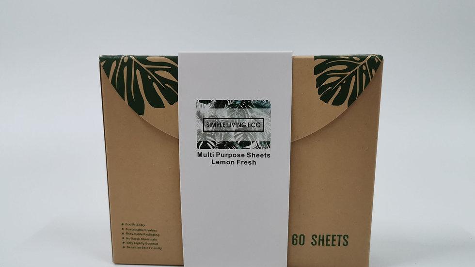 Multipurpose Cleaner Sheets - 60 pack