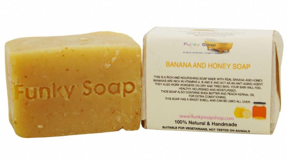 Banana & Honey dry skin Soap Bar 120g