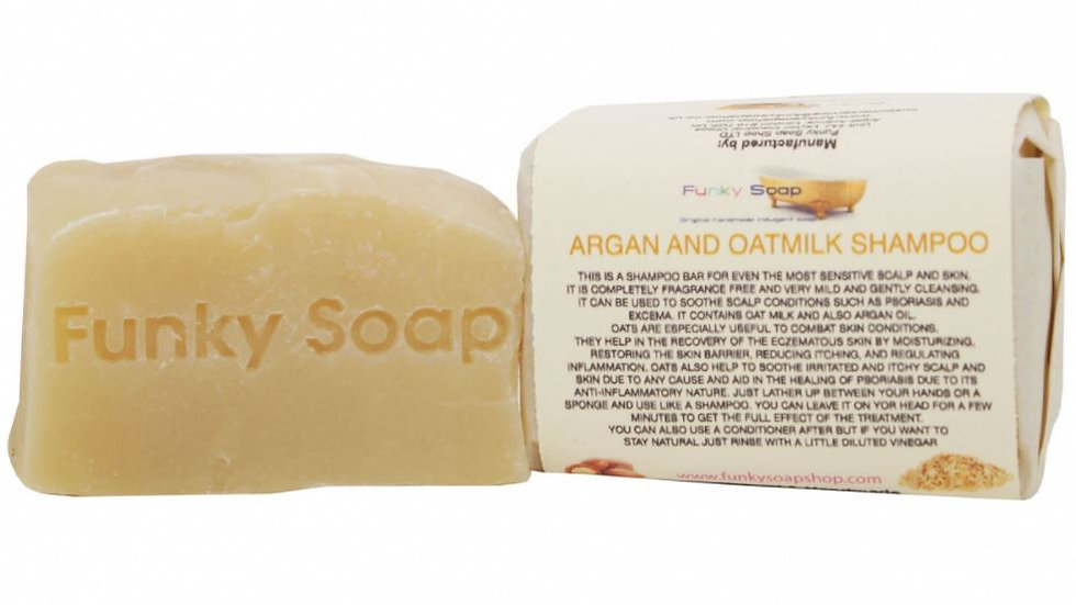 Oatmilk and Argan Oil Shampoo Bar 120g