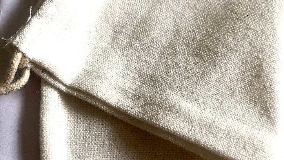 Organic Cotton Bag Brush Storage