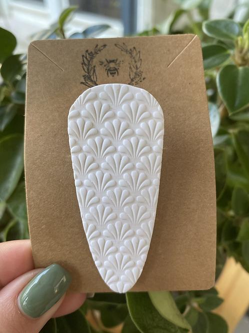 Imprint White Barette