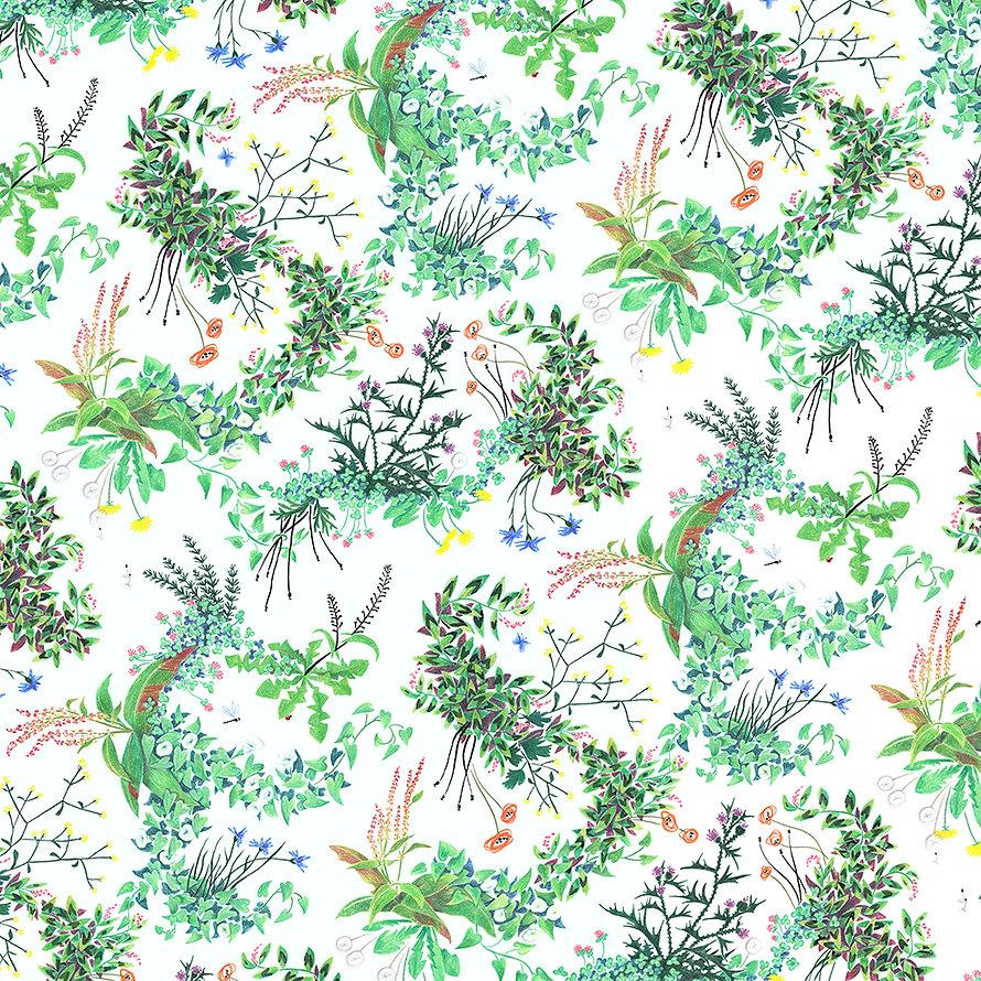 onkruid dessin bloemenpatroon onkruid bestaat niet