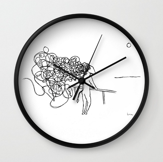 Blah Blah - Wall Clock