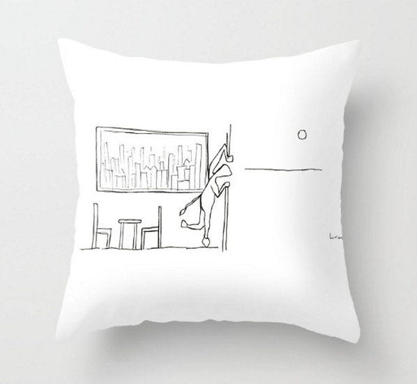 Looking Outside  - Pillow Cover