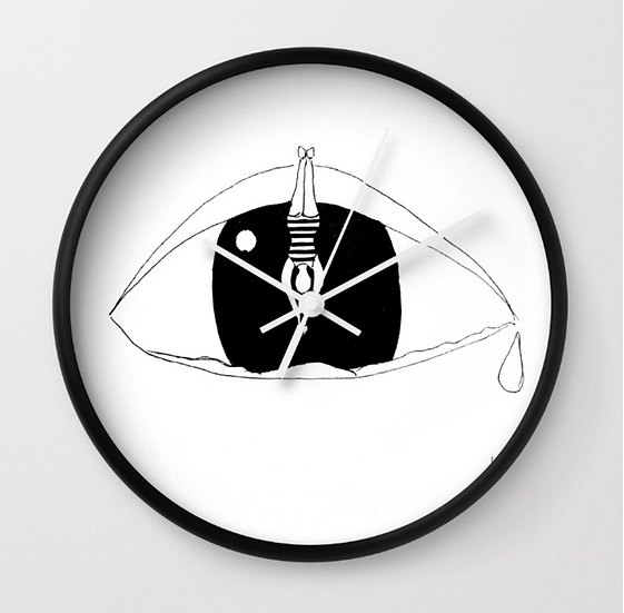 Diving In - Wall Clock
