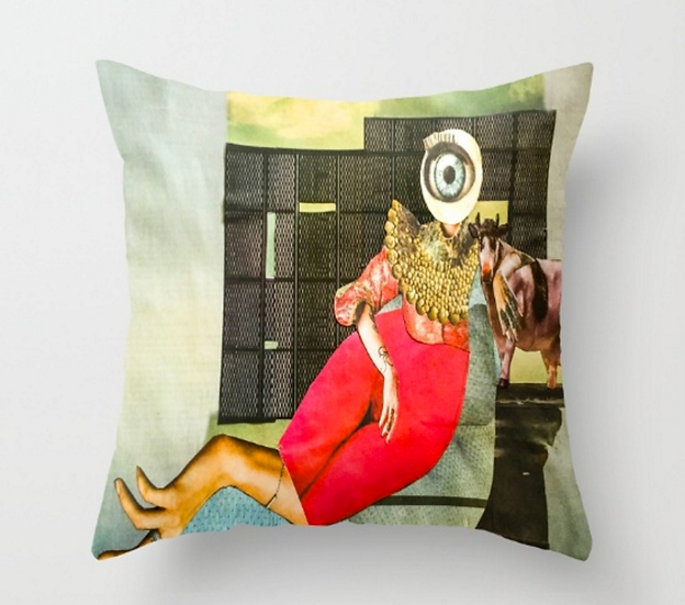 The Big Eye Hands - Pillow Cover