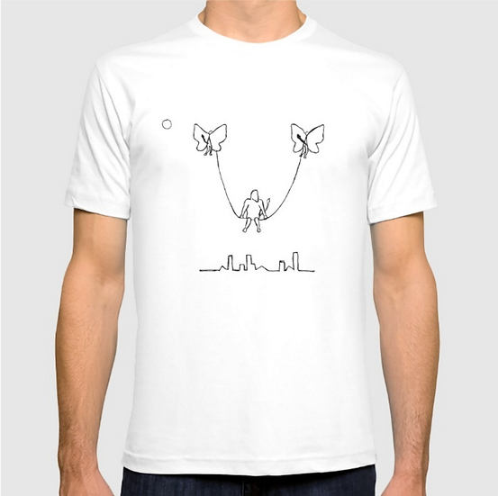 Man on A Swing - T SHIRT