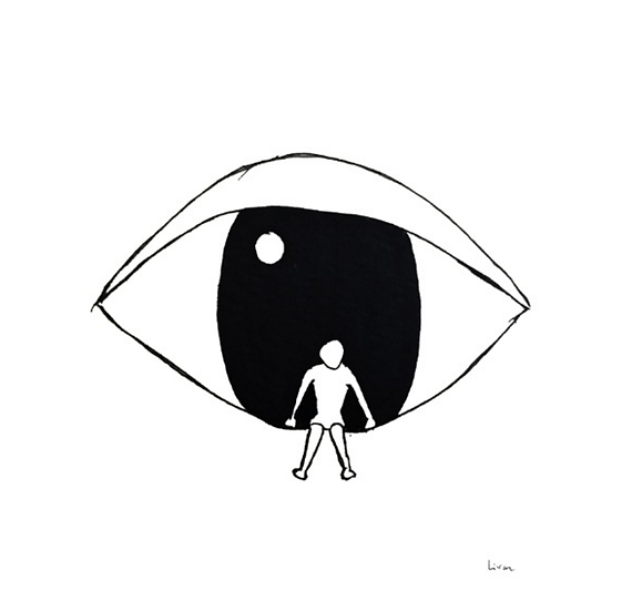 Watching - Art print