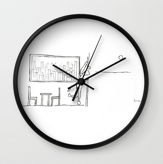 Looking Outside - Wall Clock