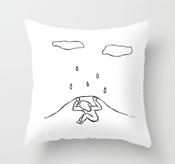 Sad Face - Pillow Cover