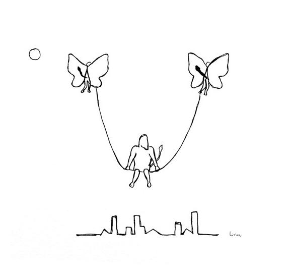 Flying Swing - Art print