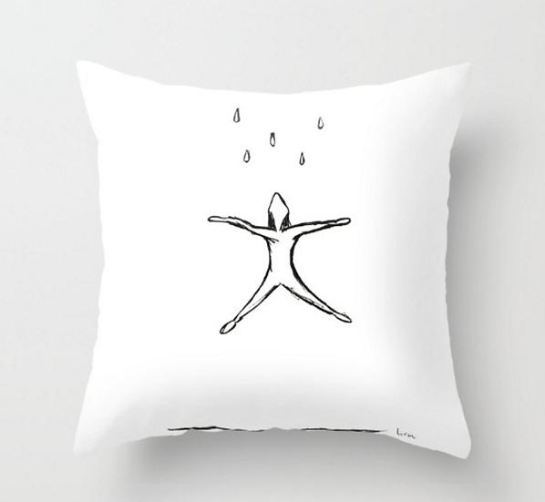 Raining  - Pillow Cover