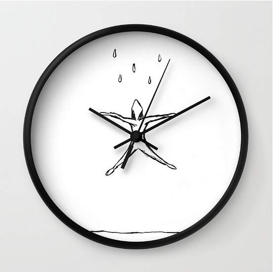 Raining - Wall Clock