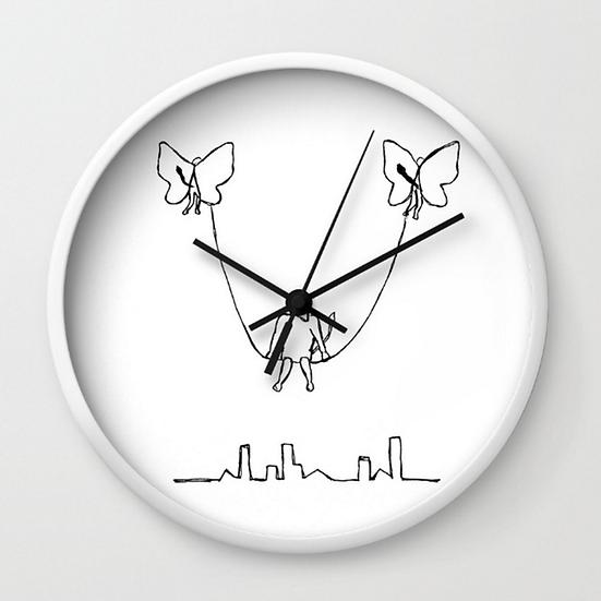 Flying Swing - Wall Clock