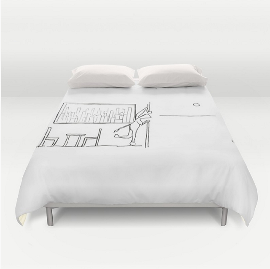 Looking Outside - Duvet Cover