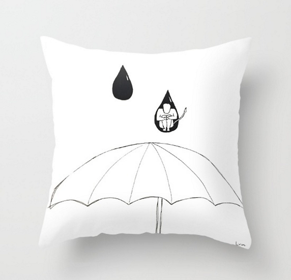 Man in A Drop - Pillow Cover