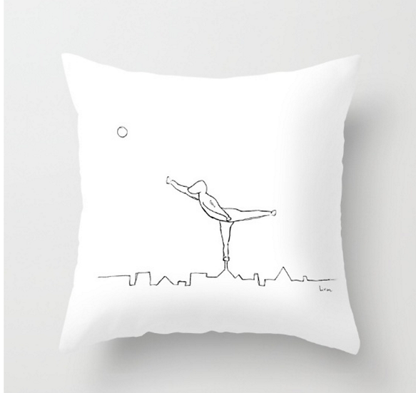 Man on The City - Pillow Cover