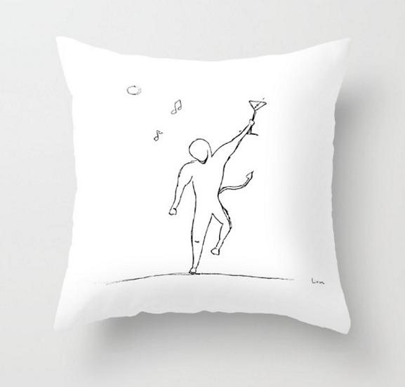 Man Raising A Glass - Pillow Cover