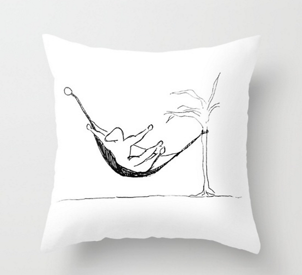 Man in A Hammock  - Pillow Cover