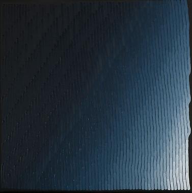 WTB Indigo 12 - 50 x 50 cm - Huile sur t