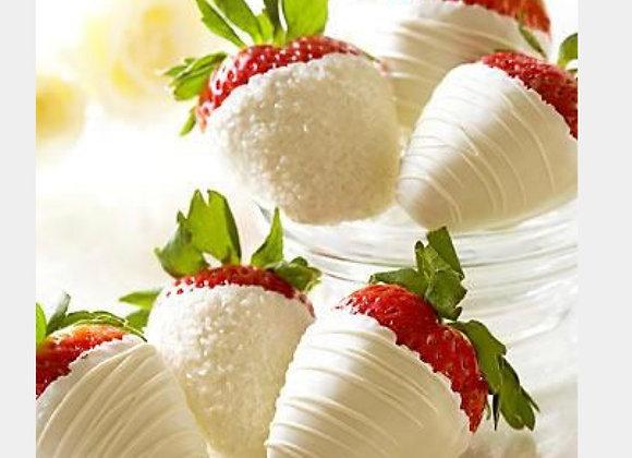 Gift Box of 6 White Chocolate Covered Strawberries