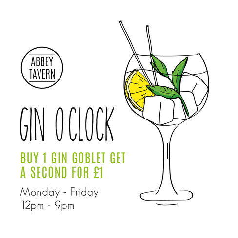 Abbey Tavern Gin Promotion