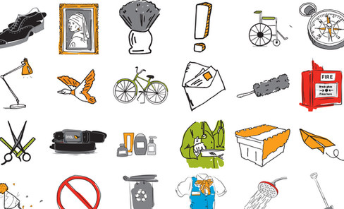 intu illustrations and collateral