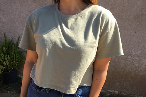 Smoke Green CropTop