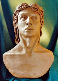 Bust of young man