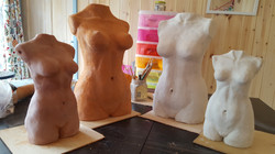 FOUR LADIES unfired