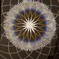 circle on black mandala