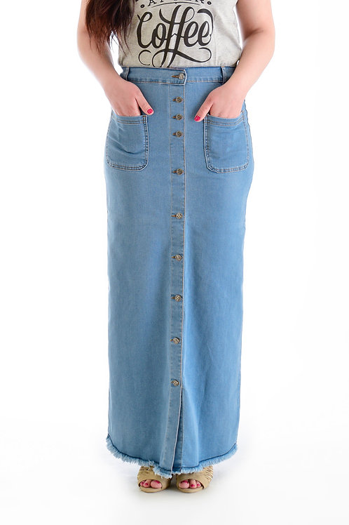 تنورة طويلة ( جيبه ) جينز زراير