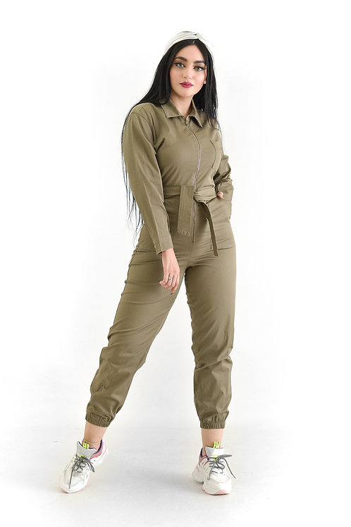 Robe jumpsuit Khaki l Sleeve l jeans