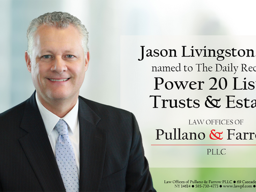 Jason Livingston Selected in Daily Record's Power 20 Trusts & Estates List