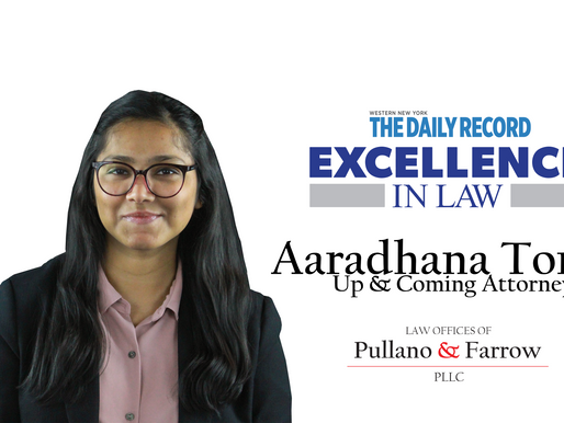 Aaradhana Tomar - Named by Daily Record, Up & Coming Attorney