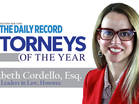 Elizabeth Cordello Selected as an Honoree for Leaders in Law Award, NY Daily Record