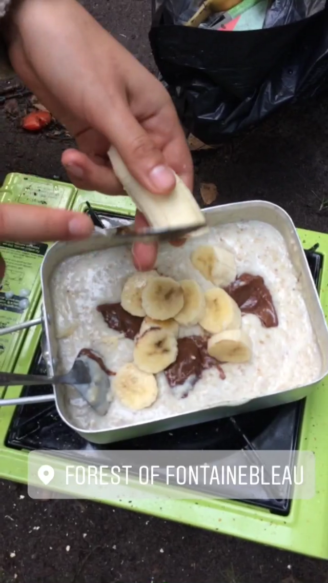 Porridge, Nutella and banana. A standard Font delicacy.