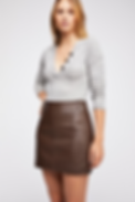 Free People Retro Vegan Bodycon Mini Skirt