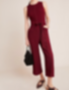 Anthropologie Colleen Stitched Jumpsuit