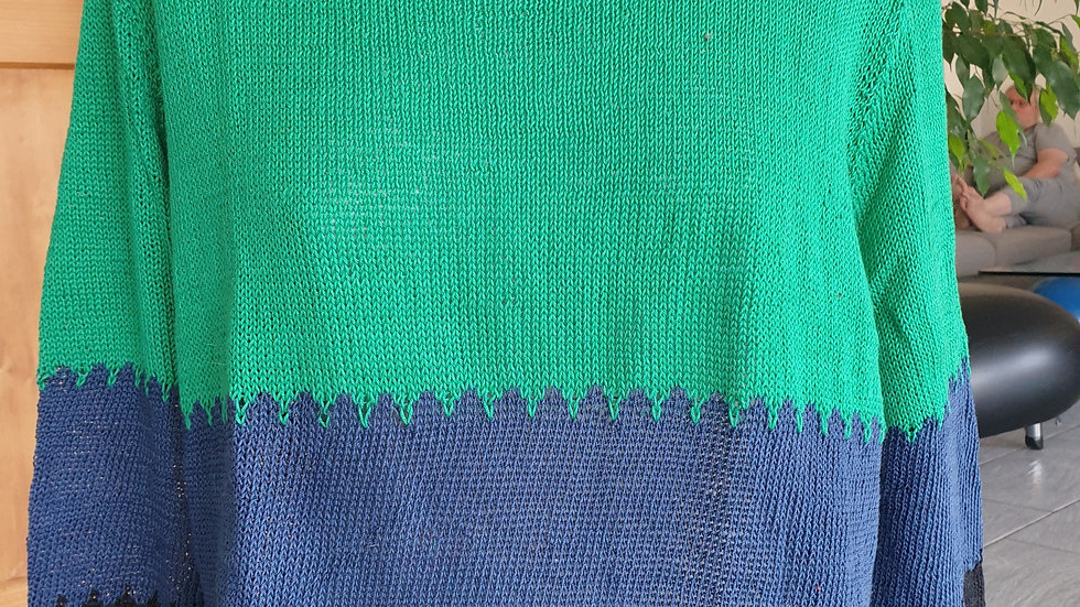 Schwarz-blau-grün-baumwollig