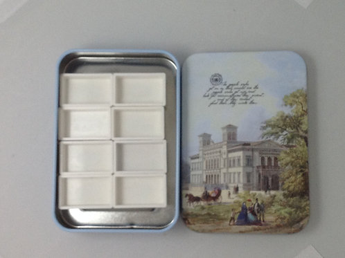 Small Tin Watercolor Palette, 8 whole pans