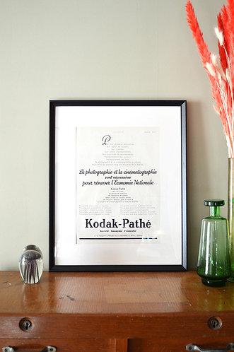 Publicité encadrée - Kodak