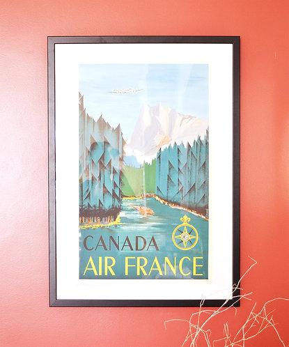 Affiche Air France - Canada