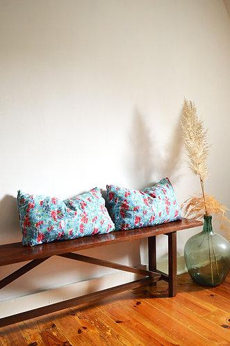 2 coussins motifs tropicaux