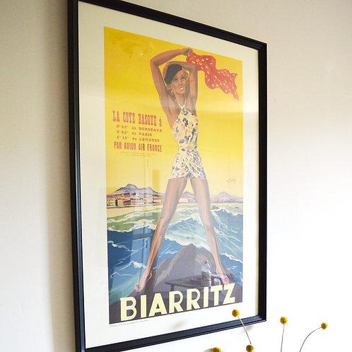 Affiche Air France - Biarritz