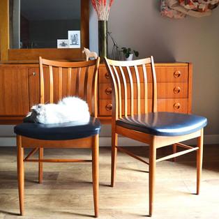 Paire de chaises Bois & Noir